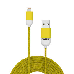 Cavo dati USB Lightning linea Pantone - giallo, giallo, large