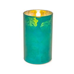Candela a batterie 12,5 cm, verde, verde, large