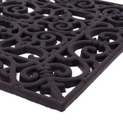 Zerbino in gomma effetto ferro battuto - Formato rettangolare, , large