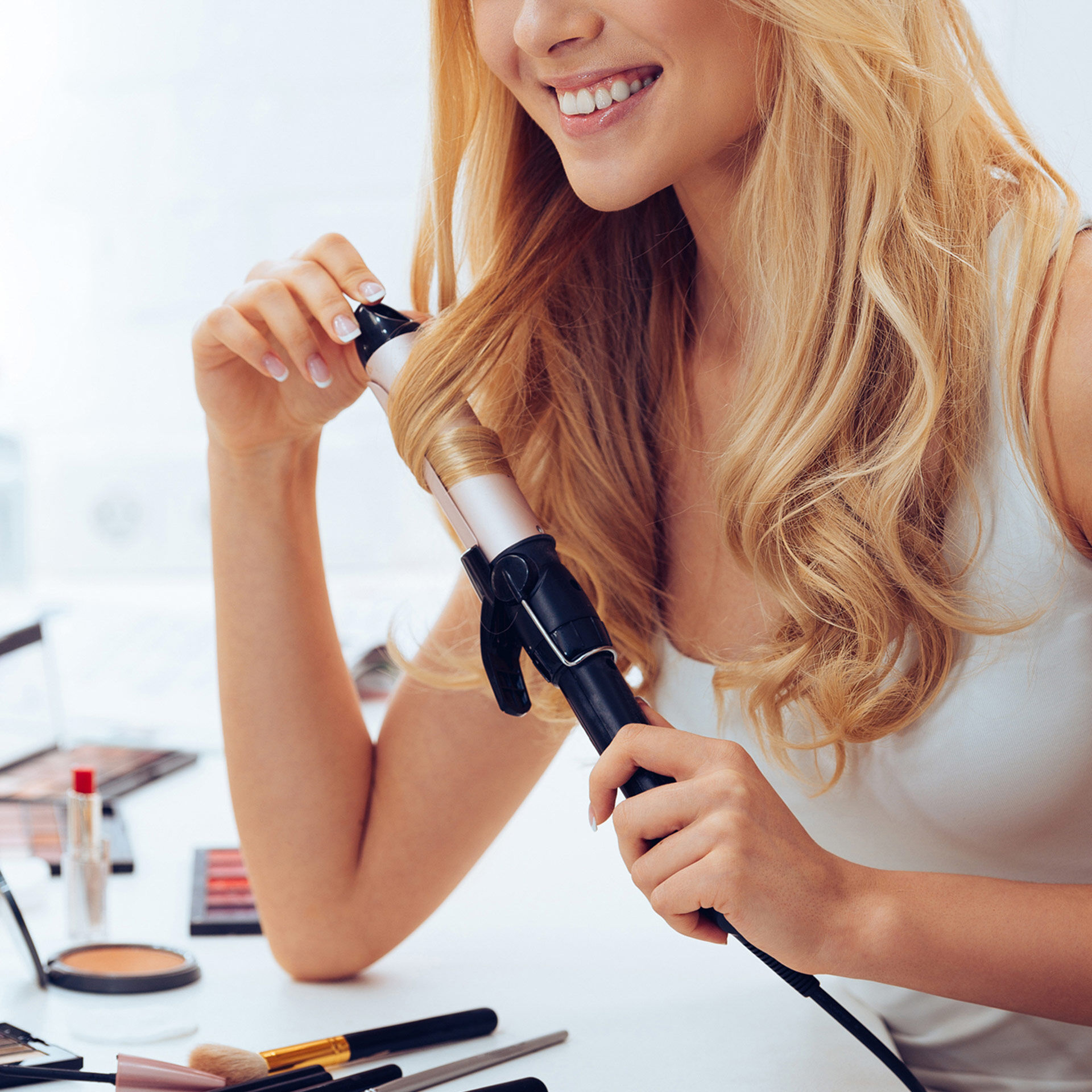 Brosse thermique pour lisser et friser les cheveux, , large