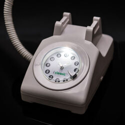 Telefono-lampada con sveglia, , large