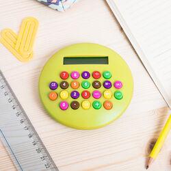 Calcolatrice rotonda - giallo, giallo, large