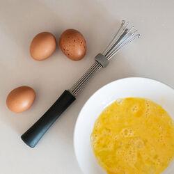Frusta da cucina regolabile in acciaio inox e silicone, , large