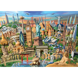 Ravensburger Puzzle 1000 pezzi 19890 - World Landmarks, , large