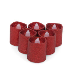 6 Tealight con luce a Led tremolante cm 4,5, , large