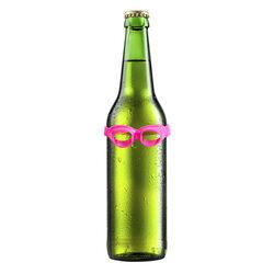Set 6 mini occhiali da nuoto per bottiglie, , large