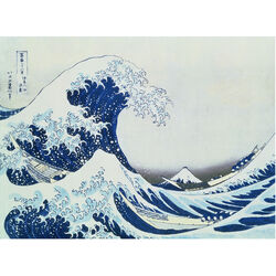 Ravensburger Puzzle 300 pezzi 140845 - THE GREAT WAVE OFF KANAGAWA, , large