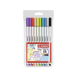 Pennarello Premium con punta a pennello - STABILO Pen 68 brush - Astuccio da 10, , large