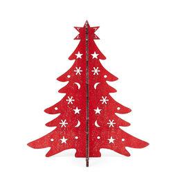 Albero di Natale in legno componibile, 28 Cm, , large