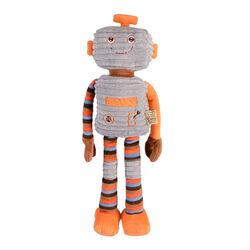 Peluche riscaldabile in microonde Caldo Cucciolo Robot patchwork, , large