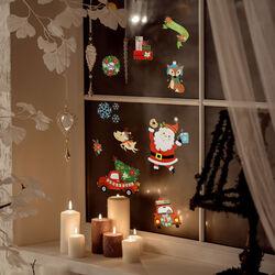 Vetrofanie assortite - Babbo Natale, , large