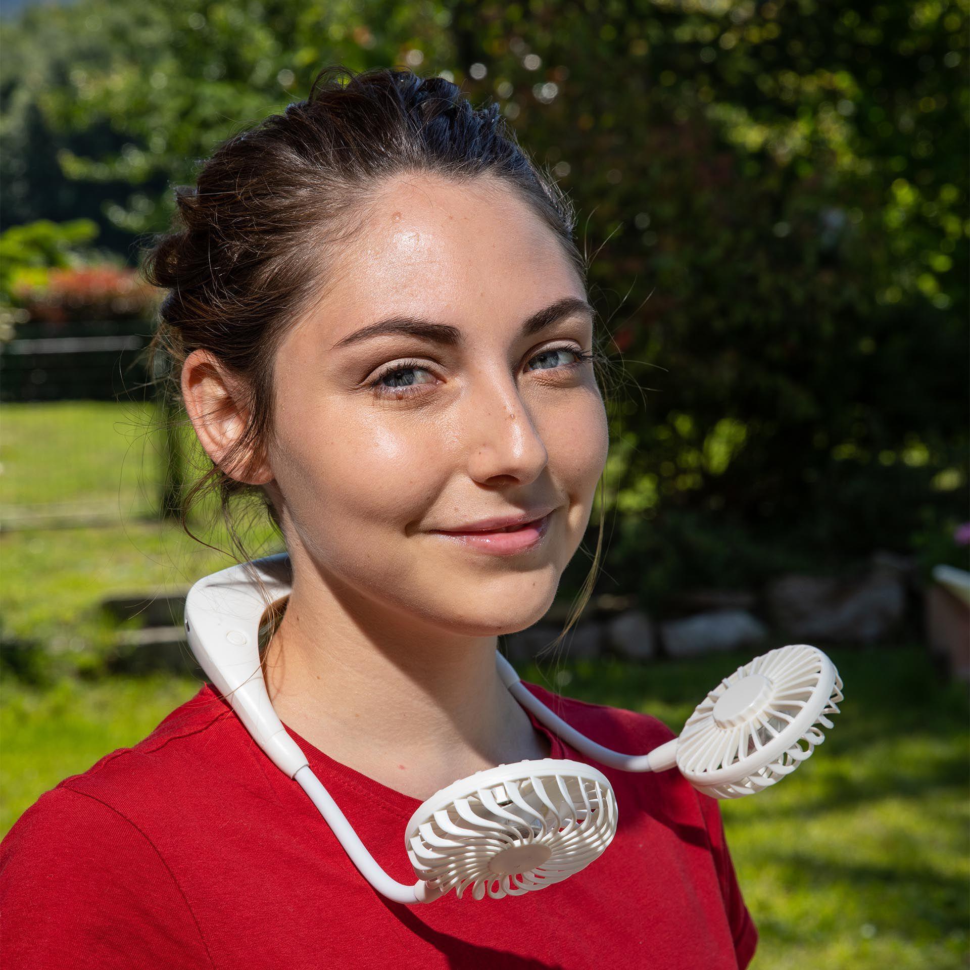 Ventilateur de cou rechargeable, , large