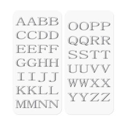 3D STICKERS LETTERS SILVER, , large