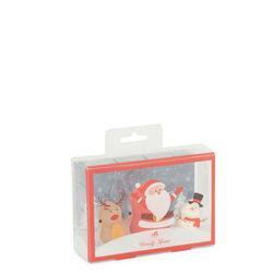 Spugnette per trucco natalizie - Set da 3 pz, colore rosso, rosso, large