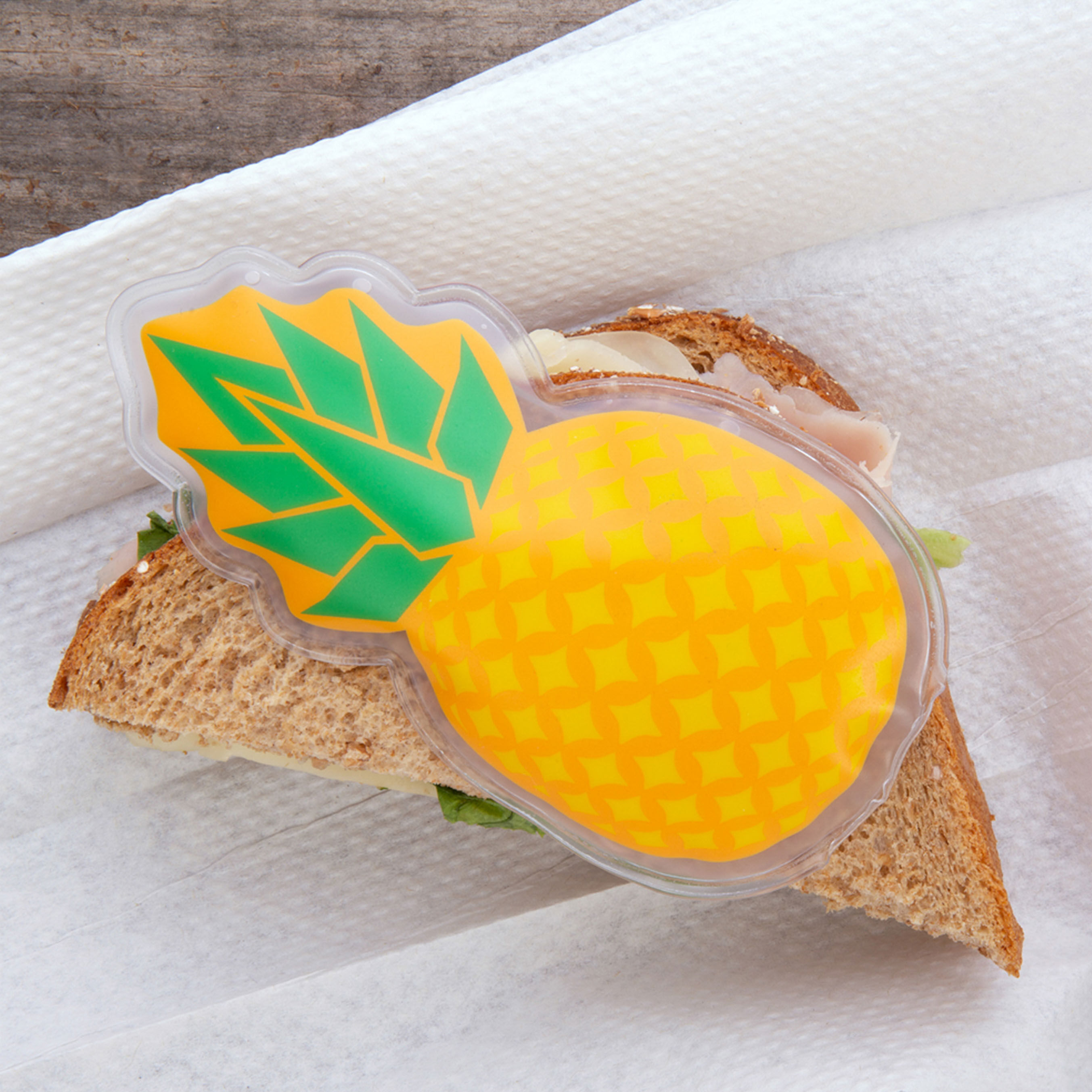 Poche de gel chaud/froid pour aliments - Ananas, , large