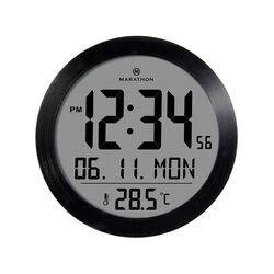 Orologio da parete con temperatura e calendario, , large