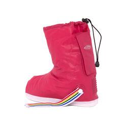 Stivali copriscarpe impermeabili antipioggia - colore rosso taglia XL, rosso taglia xl, large