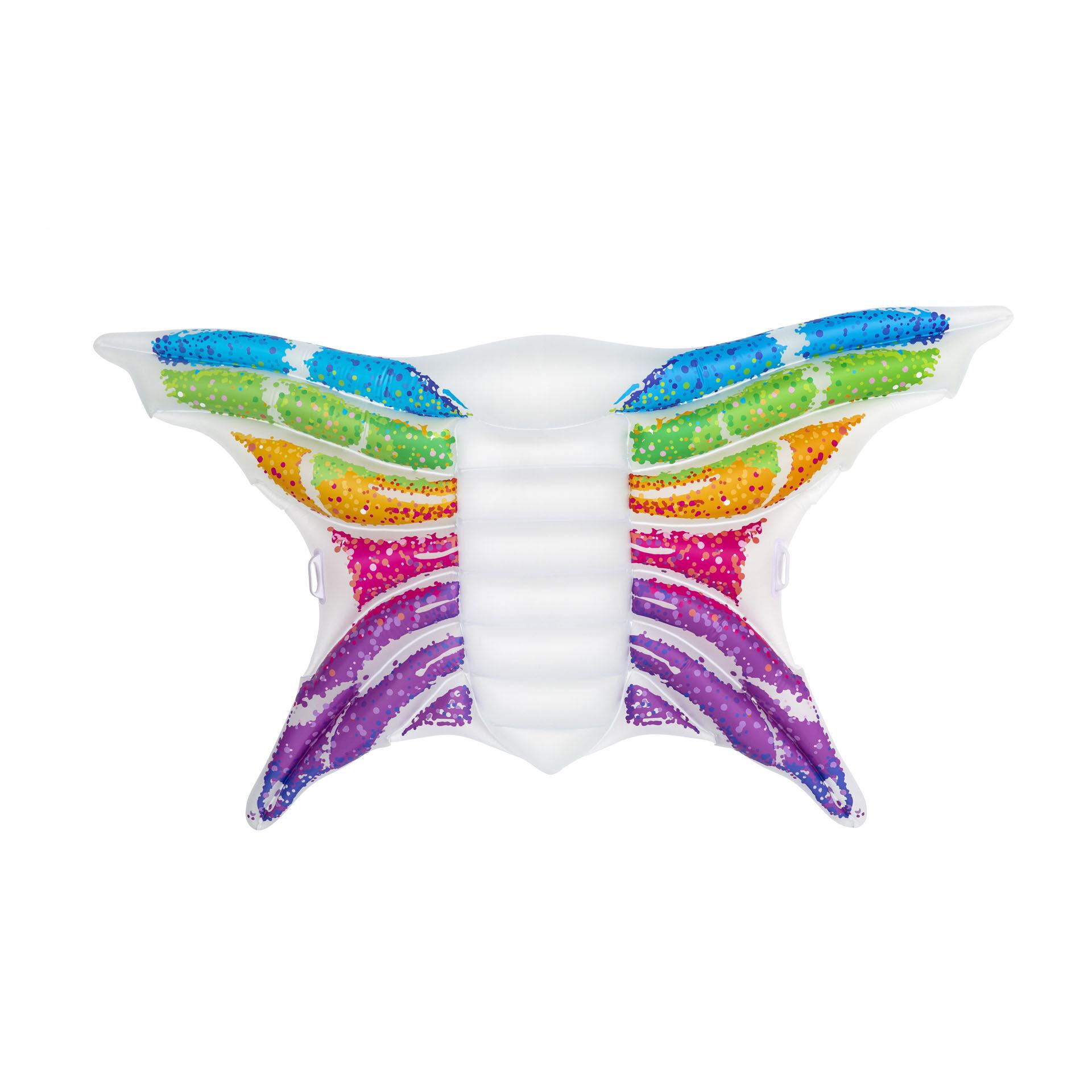 Maxi matelas gonflable papillon, , large