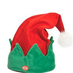 Cappellino natalizio animato con musichetta, , large
