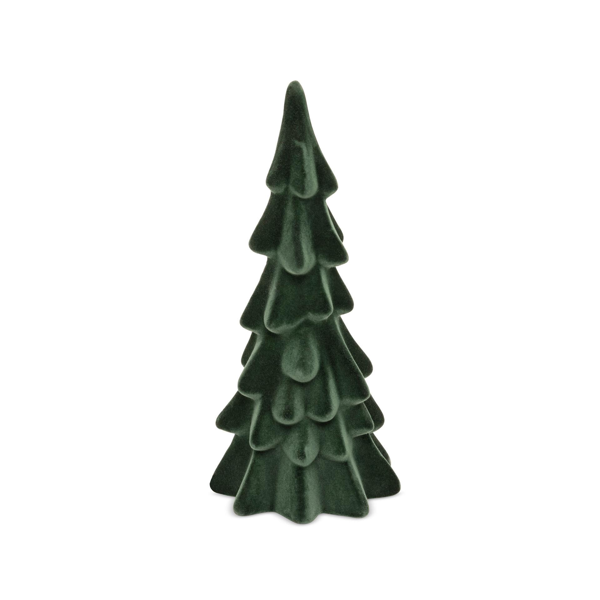Sapin de Noël en tissu floqué, , large
