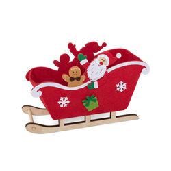 Slitta Babbo Natale in legno, , large