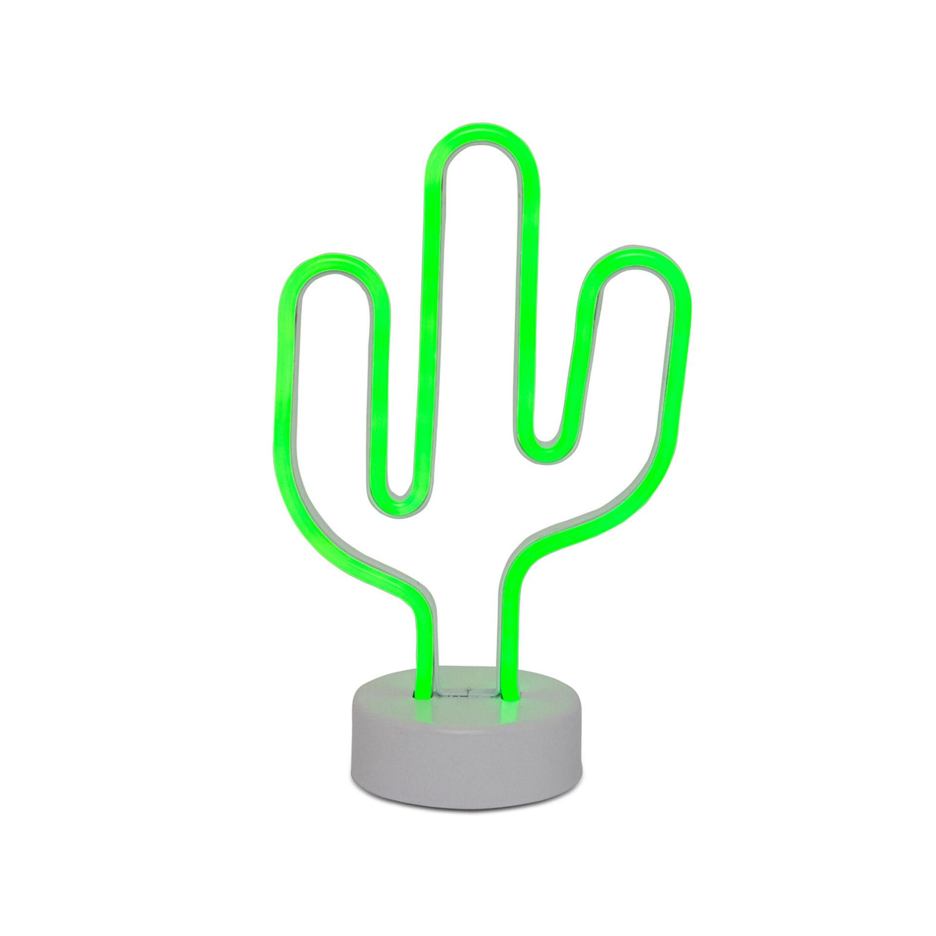 Lampe néon cactus, , large