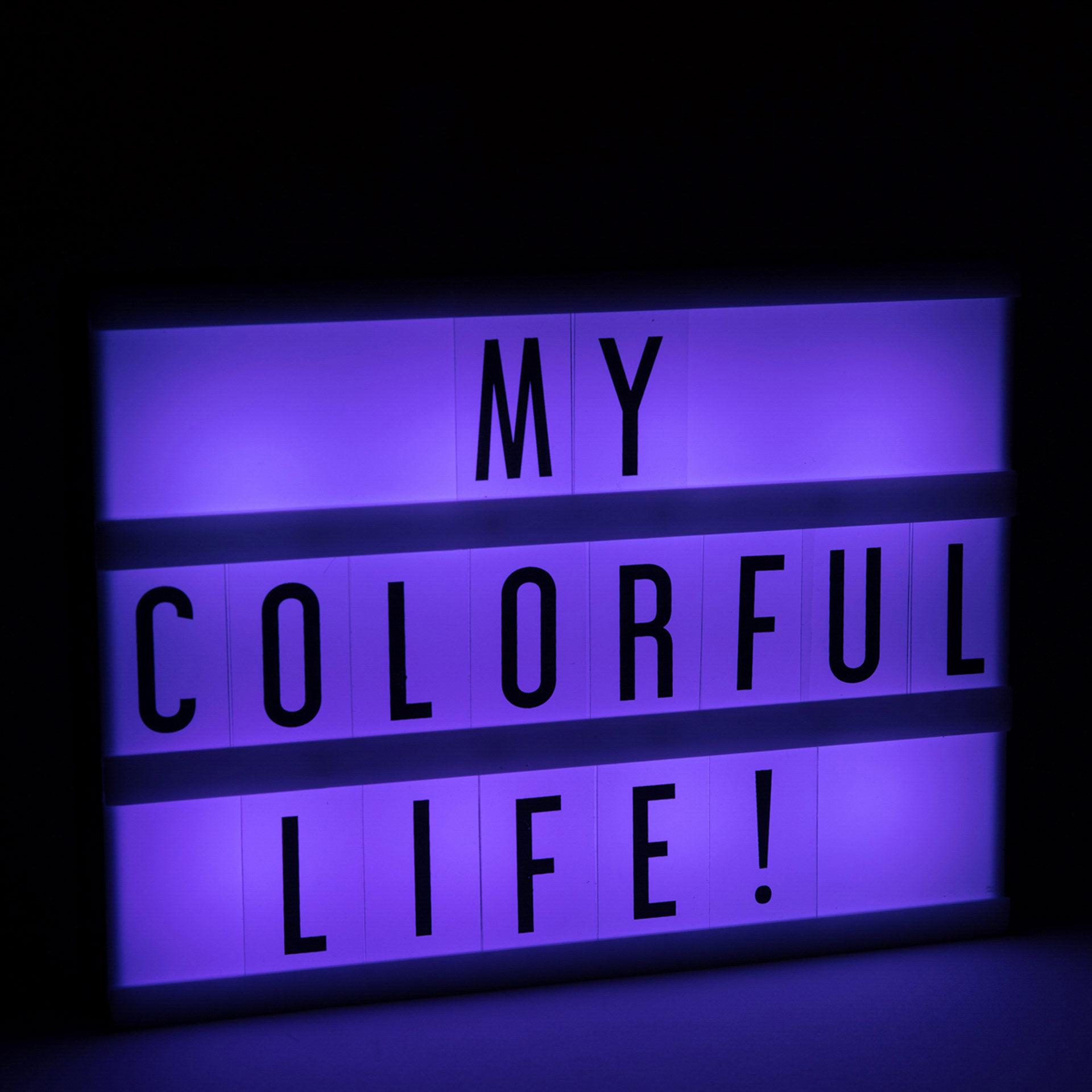 Lampe de table LED avec écriture personnalisable et lumière changeant de couleur, , large