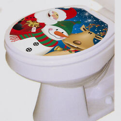 Adesivo Natalizio per WC, , large