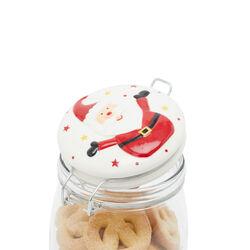 Barattolo in vetro con coperchio decorato - Babbo Natale, , large