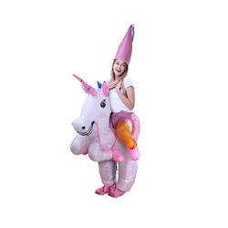 Costume gonfiabile unicorno per adulti, , large