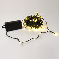 Ghirlanda 100 luci LED a batteria, , large
