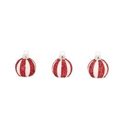 Segnaposto natalizi - Set da 6 pz, rosse e bianche, rosso e bianco, large