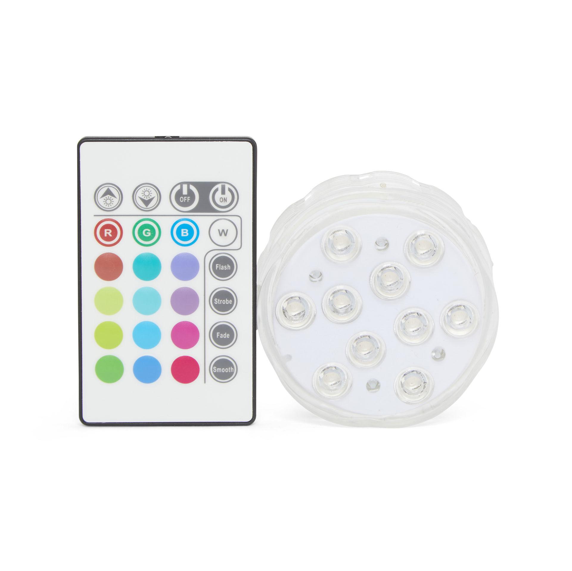 Lampe submersible à LED avec télécommande., , large