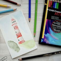 Matita colorata acquarellabile - STABILO aquacolor - ARTY - Astuccio da 36, , large