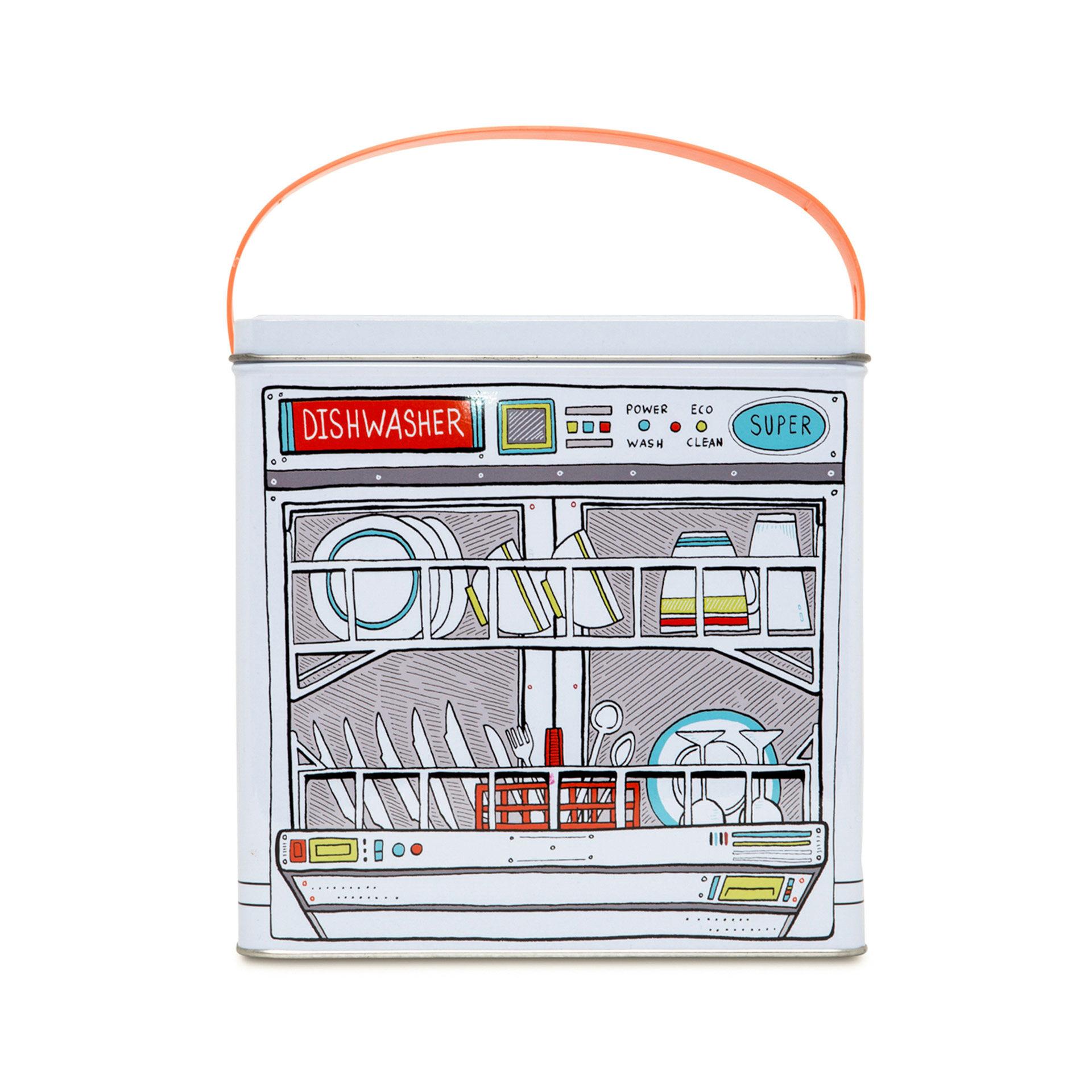 Récipient métallique pour détergent lave-vaisselle, , large