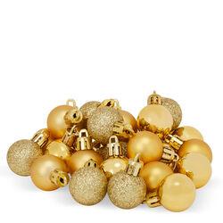 Palline per albero di Natale Set da 27 pz colore oro, oro, large