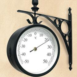 "Orologio termometro stile ""Ferrovia"", , large"