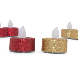 6 Tealight con luce a led tremolante, , large