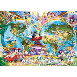 Ravensburger Puzzle 1000 pezzi 15785 - Mappamondo Disney, , large