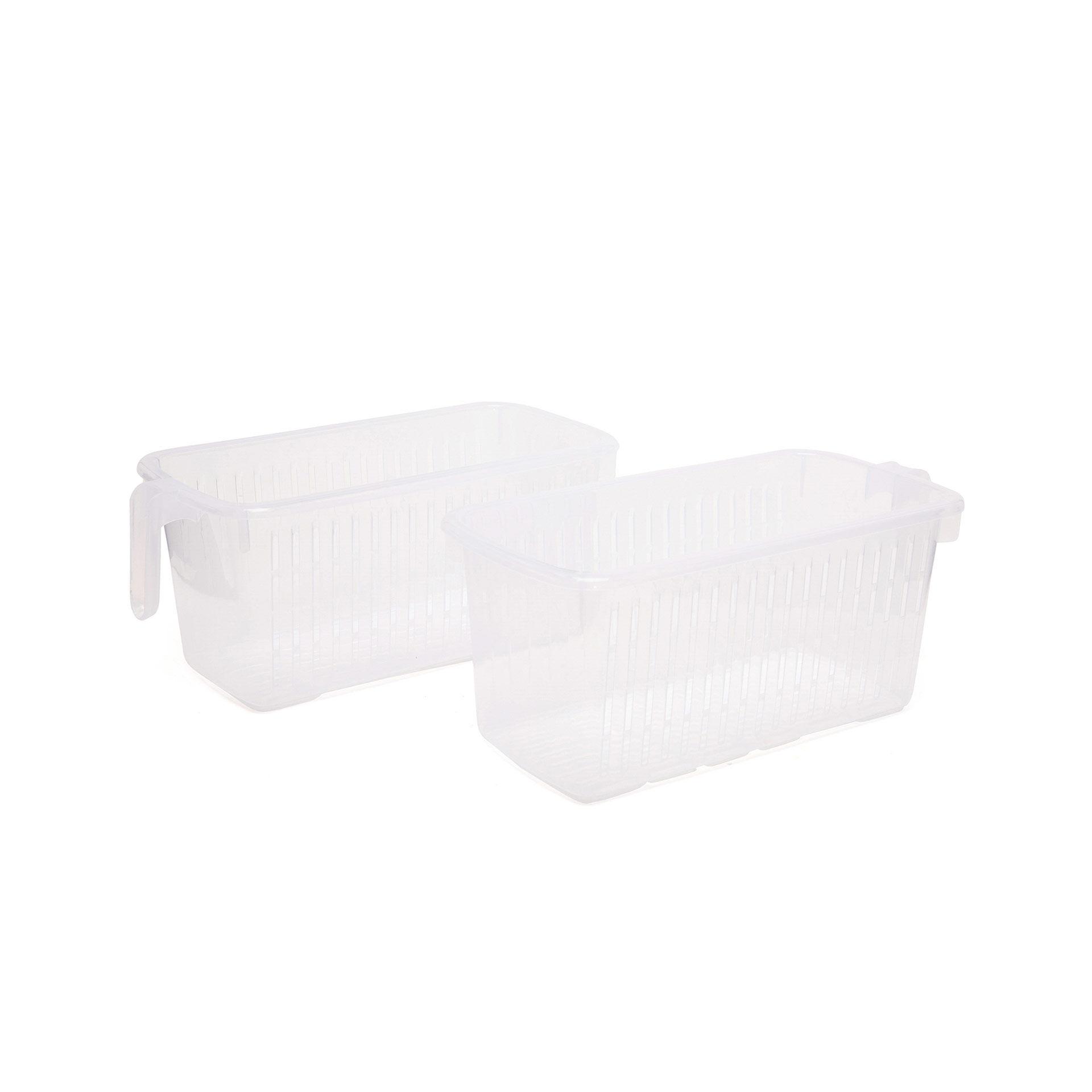 2 tiroirs gain de place avec poignée, , large