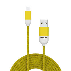 Cavo dati micro USB linea Pantone - giallo, giallo, large