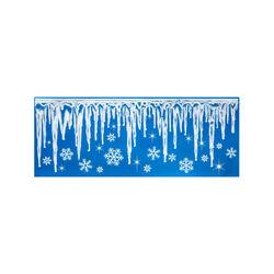 Vetrofanie natalizie effetto ghiaccio, , large