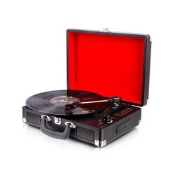 Giradischi portatile con convertitore MP3 e casse integrate, , large