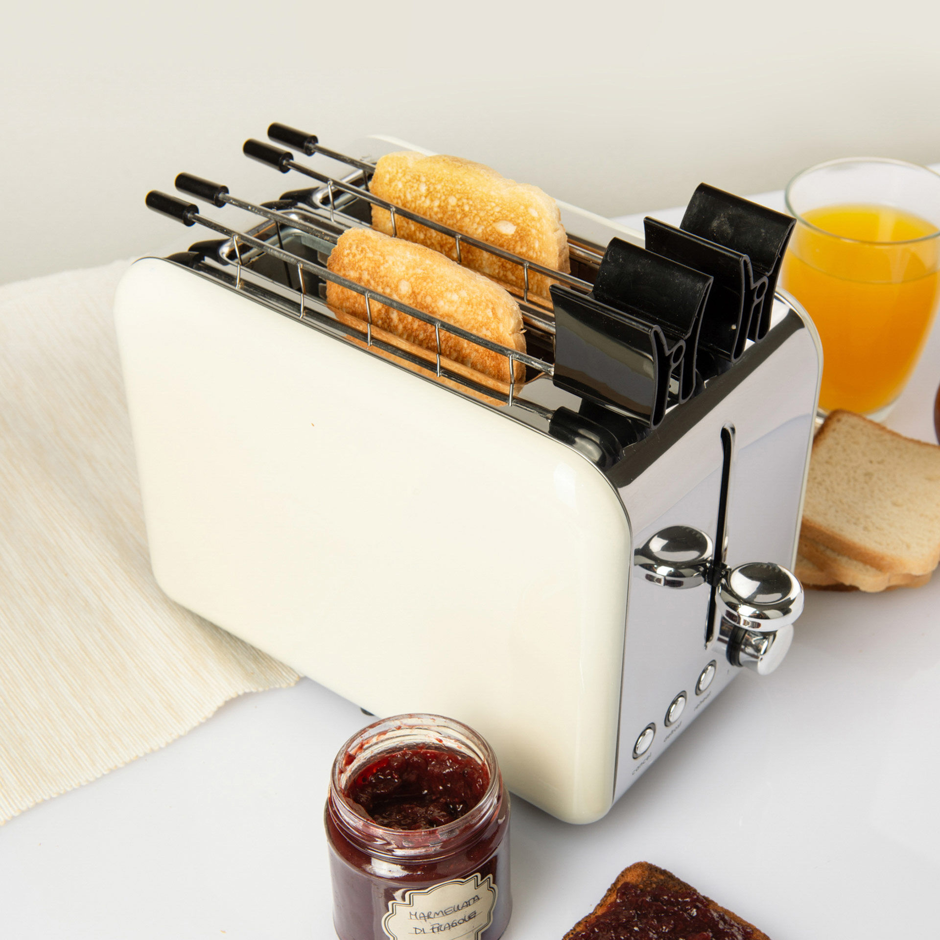 Grille-pain électrique avec ramasse-miettes amovible, , large