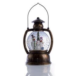 Lanterna con luce ed effetto neve, , large