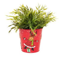 Vasetto natalizio in metallo - renna, , large