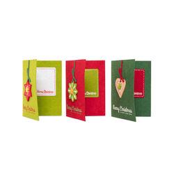 Biglietti natalizi in feltro set da 3 pz - assortite, , large