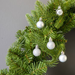 Palline per albero di Natale set da 27 pz colore argento, argento, large