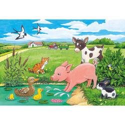 Ravensburger Puzzle 2x12 pezzi 07582 - Cuccioli di campagna, , large