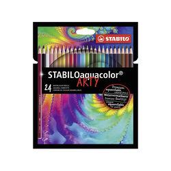 Matita colorata acquarellabile - STABILO aquacolor - ARTY - Astuccio da 24, , large